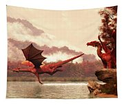 Autumn Dragons Tapestry