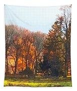Autumn Farm With Harrow Tapestry