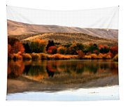 Autumn Glow On The Yakima River Tapestry
