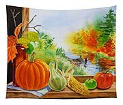 Autumn Harvest Fall Delight Tapestry