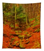 Autumn In Sproul State Forest Tapestry