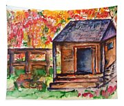 Autumn In The Backwoods Tapestry