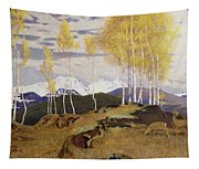 Autumn In The Mountains Tapestry