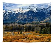 Autumn In The Tetons Tapestry