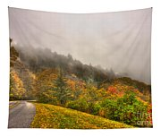Autumn Just Around The Bend Blue Ridge Parkway In Nc Tapestry