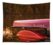 Autumn Kayaks On Newport Lake Tapestry