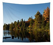 Autumn Lake In The Forest - Reflection Tranquility Tapestry