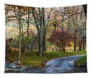 Autumn Lane  Tapestry