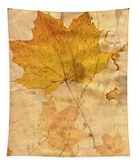 Autumn Leaf In Grunge Style Tapestry