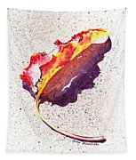 Autumn Leaf On Fire Tapestry