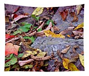 Autumn Leaves In Creek Bed Tapestry