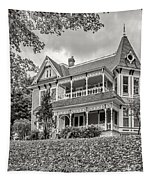 Autumn Mansion Bw Tapestry
