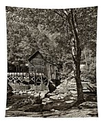 Autumn Mill 2 Sepia Tapestry