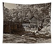 Autumn Mill Sepia Tapestry