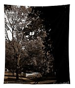 Autumn On Maple Road Tapestry