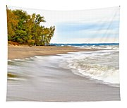 Autumn On The Beach Tapestry