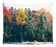 Autumn On The Fulton Chain Of Lakes In The Adirondacks II Tapestry