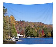 Autumn On The Fulton Chain Of Lakes In The Adirondacks V Tapestry
