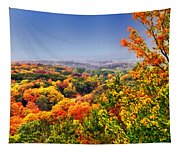 Autumn Over The Rolling Hills Tapestry