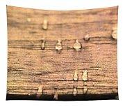 Autumn Rain On Wood Tapestry