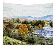 Autumn Rural Scene Tapestry