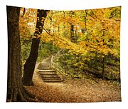 Autumn Stairs Tapestry