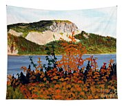 Autumn Sunset On The Hills Tapestry