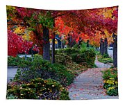 Autumn Walk In Grants Pass Tapestry