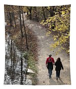 Autumn Walk On The C And O Canal Towpath Tapestry