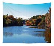 Autumn Waterway Tapestry