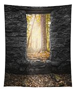 Autumn Within Long Pond Ironworks - Historical Ruins Tapestry