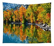 Autumn's Beauty Reflected Tapestry