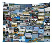 Aviation Collage Tapestry