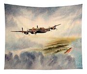 Avro Lancaster Over England Tapestry