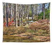 Azaleas By The Pond's Edge Tapestry