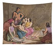 Aztec Women Making Maize Bread, Mexico Tapestry