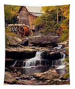 Babcock Grist Mill And Falls Tapestry