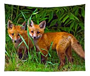 Babes In The Woods Impasto Tapestry
