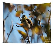 Baby American Goldfinch Learning To Fly Tapestry