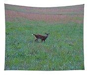 Baby Deer At Sunrise Tapestry