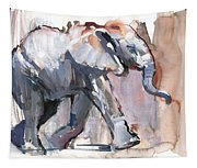 Baby Elephant, 2012 Mixed Media On Paper Tapestry