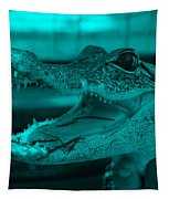 Baby Gator Turquoise Tapestry