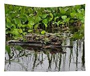 Baby Gators Tapestry
