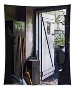 Back Door Of Shop Tapestry
