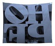 Backside Of Hope In Cyan Tapestry