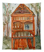 Backyard Play Hut Tapestry
