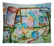 Backyard Play Simple Times Tapestry
