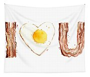 Bacon And Egg Love Tapestry