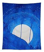 Bad Moon Rising Original Painting Tapestry