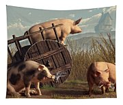 Bad Pigs Tapestry